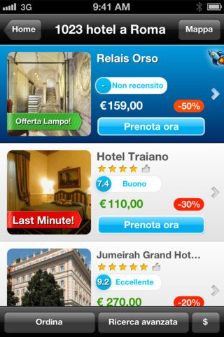 Booking.com Tonight - Cerca hotel last minute vicini (iphone, ipad)