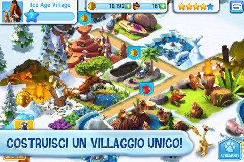 L'Era Glaciale: Il Villaggio - applicazione gioco per iPhone, Android