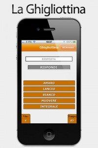 Ghigliottine - Indovina la parola seguendo gli indizi, per smartphone