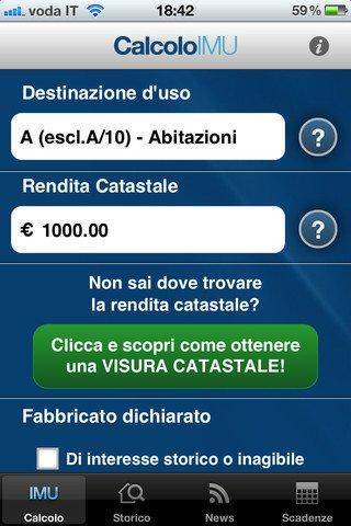 Calcolatore IMU - Applicazione per il calcolo dell'imposta IMU gratis