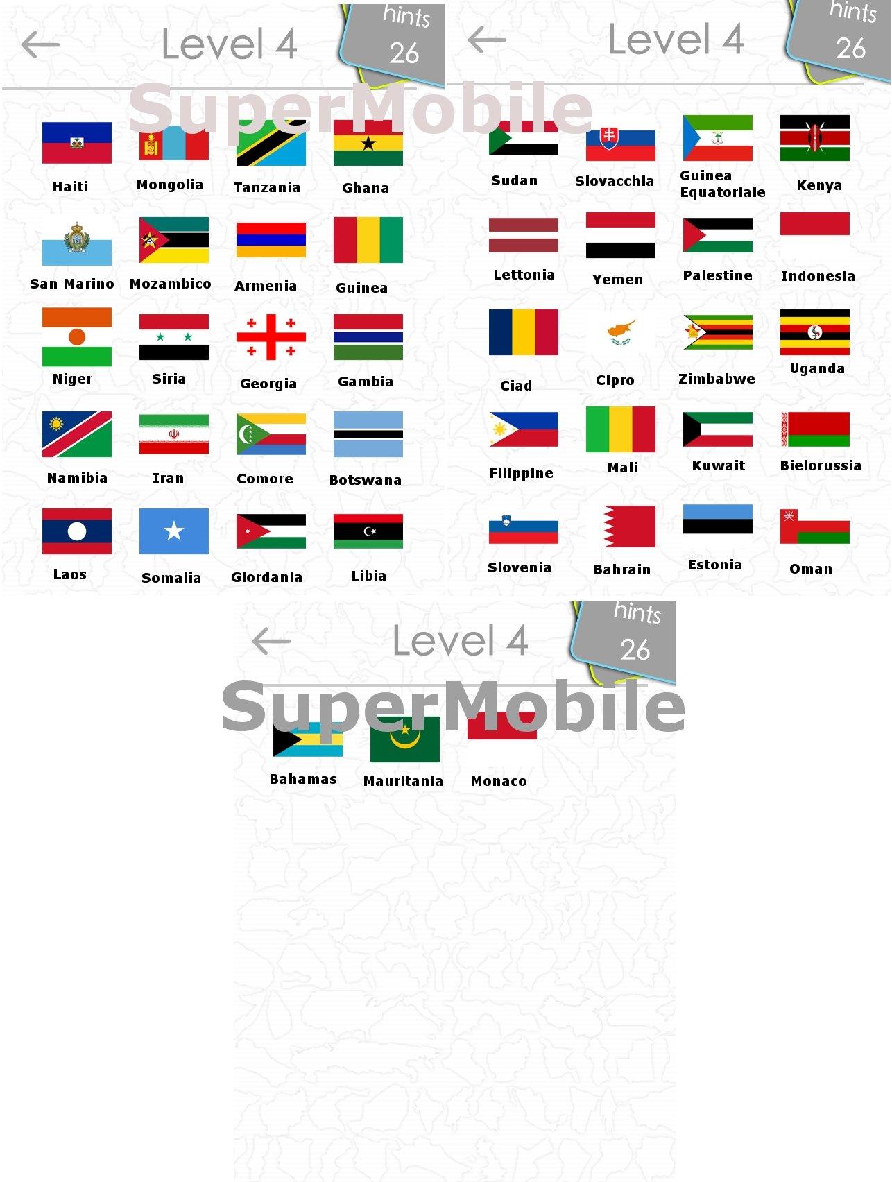 FlagsQuizGame - Tutta la soluzione, all solution, per iPhone, iPad