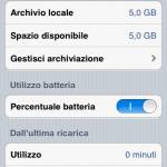 Immagine Percentuale batteria