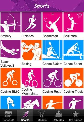 London 2012 - App ufficiale giochi olimpici di Londra, con risultati
