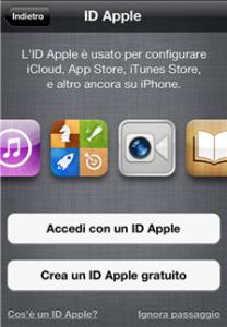 Creare iD Apple