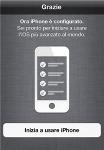 Configurazione iPhone completata