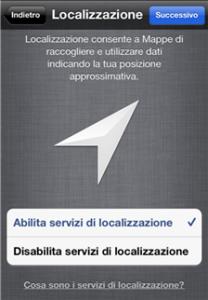 iPhone localizzazione