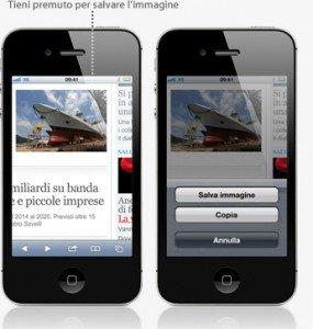salvare immagini dal Web