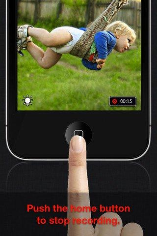 iRec - Registratore tasto rapido per iPhone e iPad per video veloci