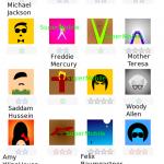 Soluzione Icomania Pop Icons Quiz livello 1 persone famose
