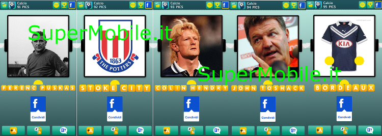 Soluzioni 100 pics quiz Calcio