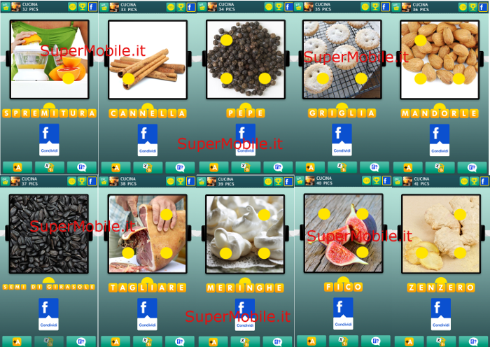Soluzione 100 PICS Quiz Cucina