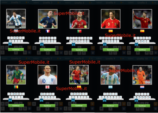 Soluzione Football Quiz Brazil 2014 - Livelli 1-10