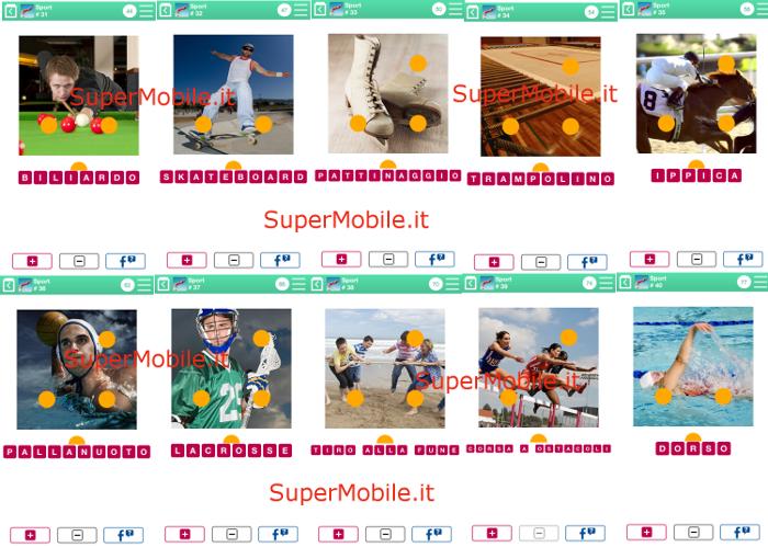 Soluzioni 100 PICS Quiz Sport