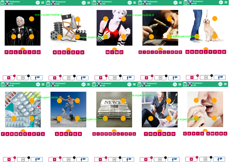 Soluzioni 100 Pics Quiz Professioni