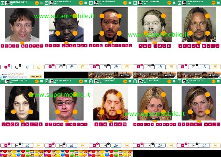 Soluzioni 100 pics quiz Celeb Mugshots