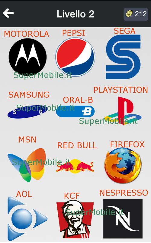 Indovina i marchi famosi logos quiz