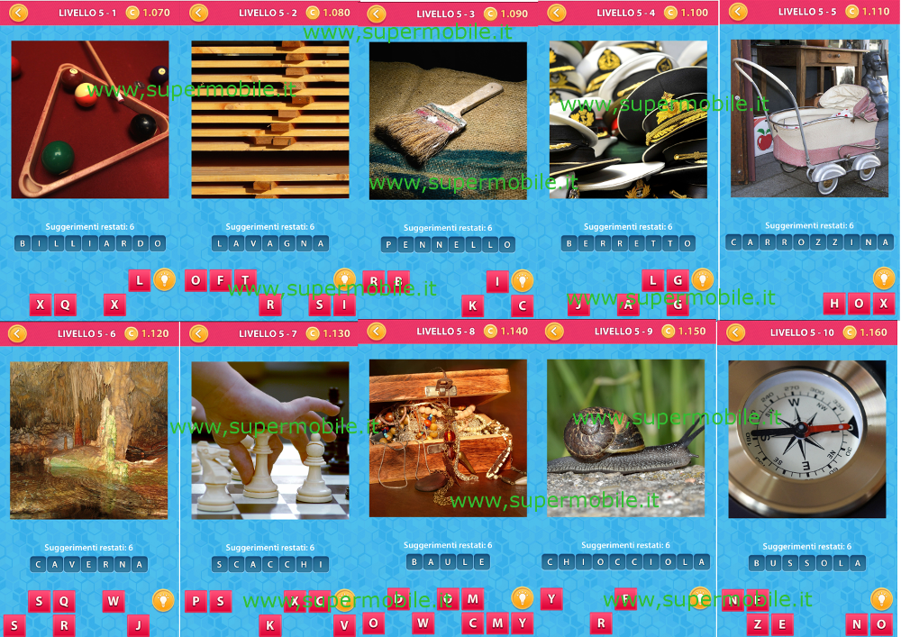Soluzione Mosaic Puzzle Game