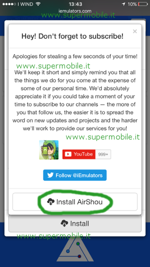App AirShou guida per filmare schermo iPhone screen recorder