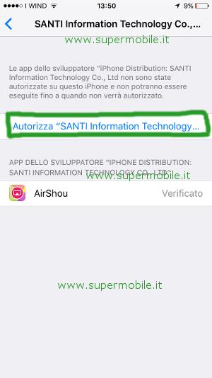 App AirShou guida per filmare schermo iPhone