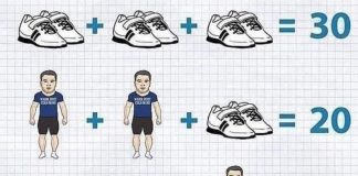 Soluzione gioco matematico dell'uomo con scarpe e sciarpa