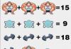 Soluzione gioco matematico bodybuilder pesi e mascherina
