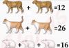 Soluzione gioco matematico con leopardo gatto e topo