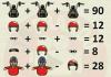 Soluzione gioco matematico moto motociclista casco e occhiali