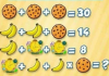 Soluzione gioco matematico con biscotti banane e sveglie